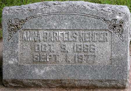 BARFELS REHDER, ANNA M. - Tama County, Iowa | ANNA M. BARFELS REHDER