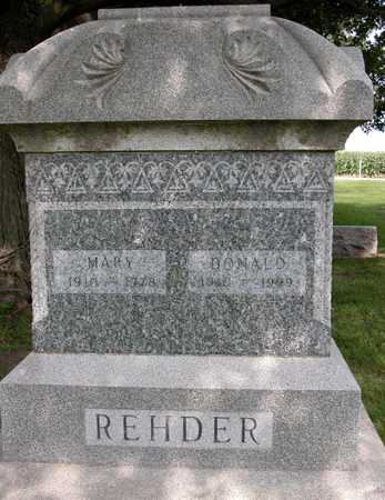 REHDER, MARY A. - Tama County, Iowa | MARY A. REHDER