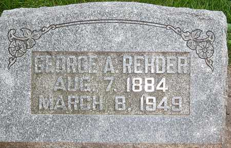 REHDER, GEORGE A. - Tama County, Iowa | GEORGE A. REHDER