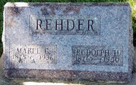 REHDER, MABEL G. - Tama County, Iowa | MABEL G. REHDER