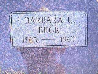 BECK, BARBARA U. - Taylor County, Iowa | BARBARA U. BECK