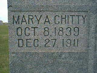 CHITTY, MARY - Taylor County, Iowa | MARY CHITTY