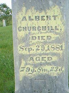 CHURCHILL, ALBERT - Taylor County, Iowa | ALBERT CHURCHILL