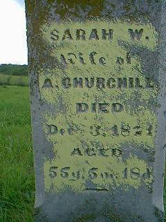 CHURCHILL, SARAH - Taylor County, Iowa   SARAH CHURCHILL