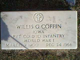 COFFIN, WILLIS G. - Taylor County, Iowa | WILLIS G. COFFIN