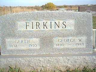 FIRKINS, GERTIE - Taylor County, Iowa | GERTIE FIRKINS