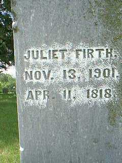 FIRTH, JULIET - Taylor County, Iowa | JULIET FIRTH
