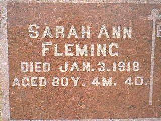 FLEMING, SARAH ANN - Taylor County, Iowa | SARAH ANN FLEMING