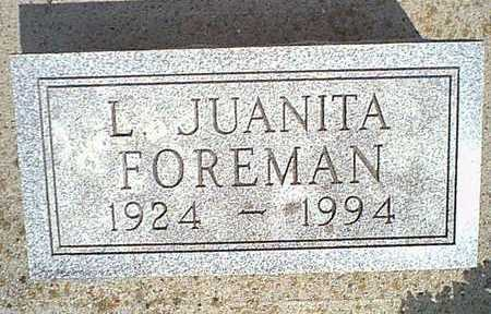 FOREMAN, L. JUANITA - Taylor County, Iowa | L. JUANITA FOREMAN
