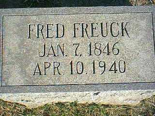 FREUCK, FRED - Taylor County, Iowa | FRED FREUCK