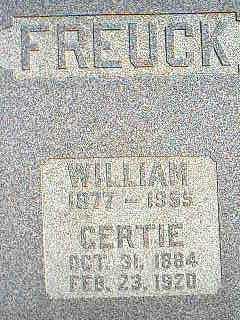FREUCK, GERTIE - Taylor County, Iowa | GERTIE FREUCK