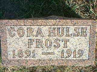 HULSE FROST, CORA - Taylor County, Iowa | CORA HULSE FROST