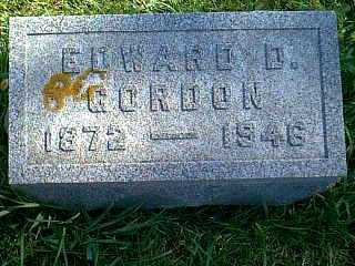 GORDON, EDWARD D. - Taylor County, Iowa | EDWARD D. GORDON