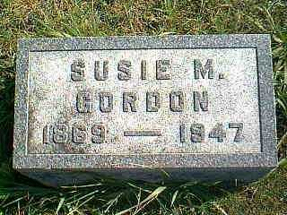 GORDON, SUSIE M. - Taylor County, Iowa | SUSIE M. GORDON