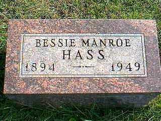 MANROE HAAS, BESSIE - Taylor County, Iowa | BESSIE MANROE HAAS
