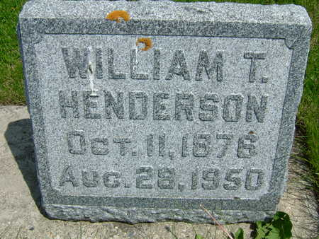 HENDERSON, WILLIAM T - Taylor County, Iowa | WILLIAM T HENDERSON