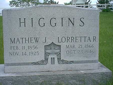 HIGGINS, LORRETTA R. - Taylor County, Iowa | LORRETTA R. HIGGINS