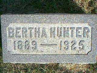 HUNTER, BERTHA - Taylor County, Iowa   BERTHA HUNTER