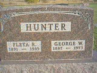 HUNTER, GEORGE W. - Taylor County, Iowa | GEORGE W. HUNTER