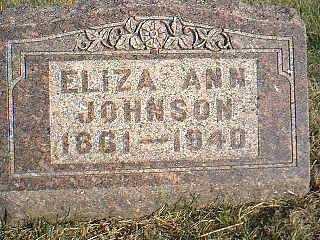JOHNSON, ELIZA ANN - Taylor County, Iowa | ELIZA ANN JOHNSON
