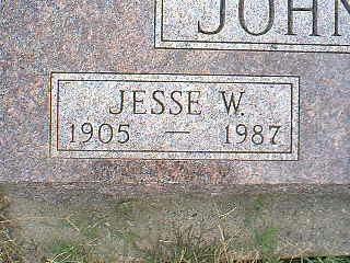 JOHNSON, JESSE W. - Taylor County, Iowa   JESSE W. JOHNSON
