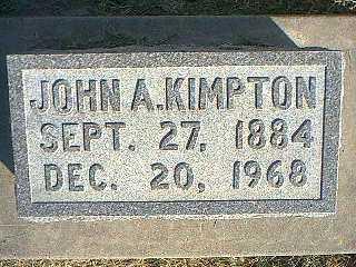 KIMPTON, JOHN A. - Taylor County, Iowa | JOHN A. KIMPTON