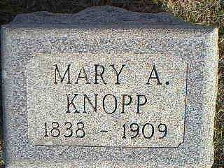 KNOPP, MARY A. - Taylor County, Iowa | MARY A. KNOPP