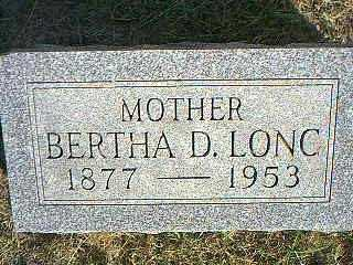 LONG, BERTHA D. - Taylor County, Iowa | BERTHA D. LONG