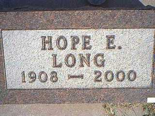 LONG, HOPE E. - Taylor County, Iowa | HOPE E. LONG