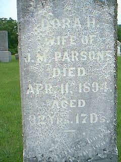 PARSONS, DORA - Taylor County, Iowa | DORA PARSONS