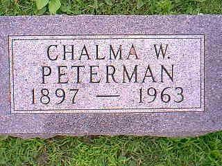 PETERMAN, CHALMA W. - Taylor County, Iowa | CHALMA W. PETERMAN