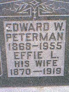 PETERMAN, EFFIE L. - Taylor County, Iowa | EFFIE L. PETERMAN