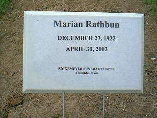 RATHBUN, MARIAN - Taylor County, Iowa | MARIAN RATHBUN