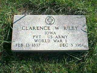 RILEY, CLARENCE W. - Taylor County, Iowa | CLARENCE W. RILEY