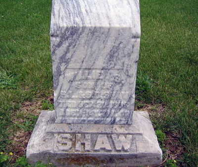 SHAW, SHEPHERD WILLIAM - Taylor County, Iowa | SHEPHERD WILLIAM SHAW