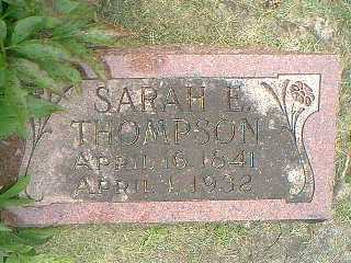 THOMPSON, SARAH E. - Taylor County, Iowa | SARAH E. THOMPSON