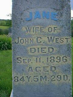 WEST, JANE - Taylor County, Iowa | JANE WEST