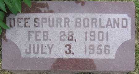 SPURR BORLAND, DEE - Union County, Iowa | DEE SPURR BORLAND