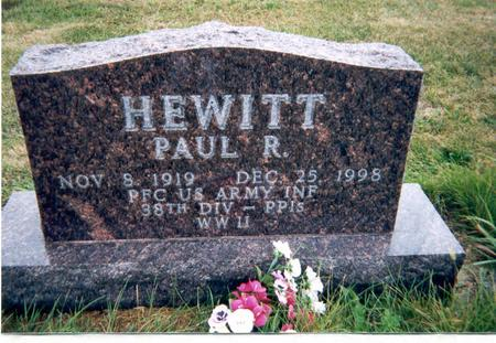 HEWITT, PAUL R - Union County, Iowa | PAUL R HEWITT