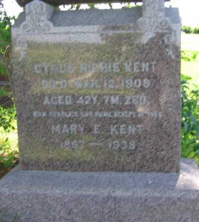 KENT, MARY E. - Union County, Iowa | MARY E. KENT