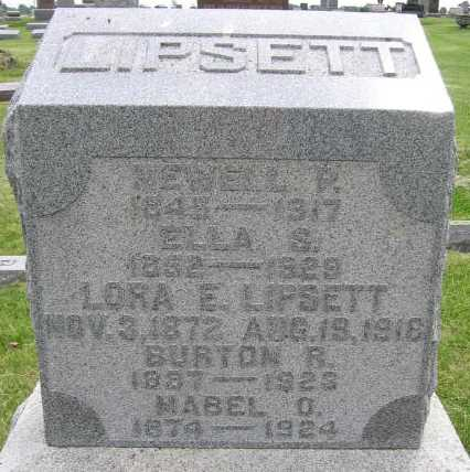 LIPSETT, MABEL O. - Union County, Iowa | MABEL O. LIPSETT