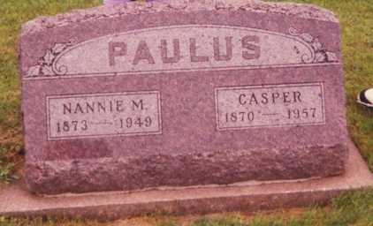 WICKHAM PAULUS, NANNIE M. - Union County, Iowa | NANNIE M. WICKHAM PAULUS