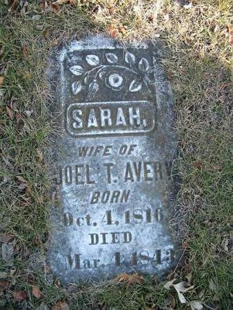 AVERY, SARAH - Van Buren County, Iowa | SARAH AVERY