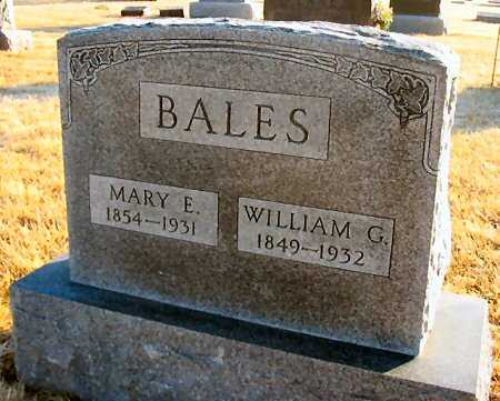 BALES, WILLIAM G. - Van Buren County, Iowa | WILLIAM G. BALES