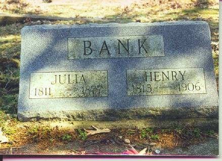 BANK, HENRY AND JULIA - Van Buren County, Iowa | HENRY AND JULIA BANK