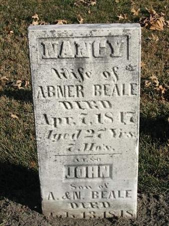 BEALE, NANCY; SON JOHN - Van Buren County, Iowa | NANCY; SON JOHN BEALE