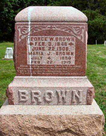 BROWN, GEORGE W. - Van Buren County, Iowa | GEORGE W. BROWN