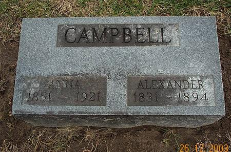 CAMPBELL, KATE ANNA - Van Buren County, Iowa | KATE ANNA CAMPBELL