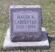 CARPENTER, MAUDE - Van Buren County, Iowa | MAUDE CARPENTER