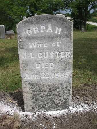 BROWN CUSTER, ORPAH - Van Buren County, Iowa | ORPAH BROWN CUSTER